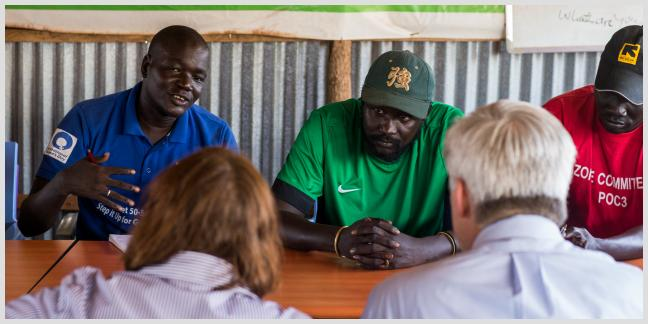 A US delegation visited Protection of Civilians sites in Juba, South Sudan on May 27, 2016, meeting with camp leaders and women's representatives. The delegation included, among others, the US Ambassador to South Sudan and the USAID Mission Director.