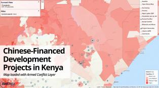 Kenya armed conflict and aid map