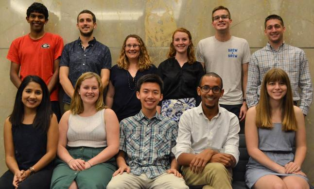 Bon voyage and congratulations to the 2017 AidData Summer Fellows! Earlier this month the Fellows scattered out to NGOs across the globe. Photo by Morgan Goad for AidData.