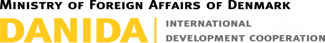 logo for DANIDA, the international development cooperation of the Ministry of Foreign Affairs of Denmark