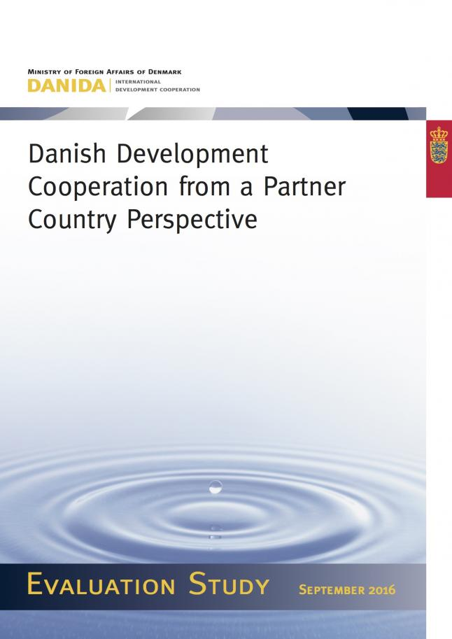 Cover art for 2016 DEval report, German Aid From a Parner Perspective