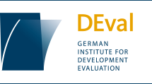 Logo for DEval, the German Institute for Development Evaluation