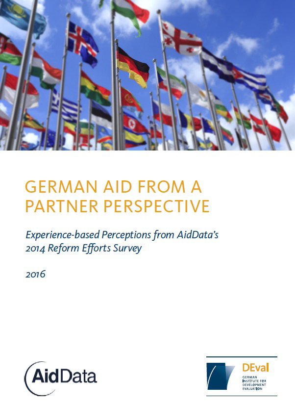 Cover art for 2016 report, German aid from a partner perspective