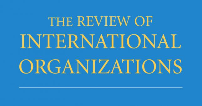Cover art for the Review of International Organizations