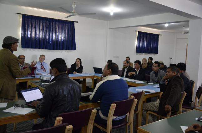 The Nepal Data Working Group convened at Kathmandu University on February 9, 2014 to discuss Nepal's Aid Management Platform.