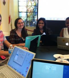 AidData research assistants at the MapGive Ebola Outbreak Mapathon