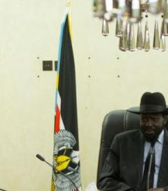 Meeting with President Salva Kiir during August visit to South Sudan