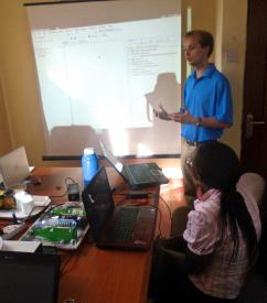 Justin Conducting a TI Training